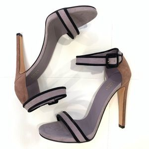 GUCCI Two-Tone Suede Heels Sz 40.5